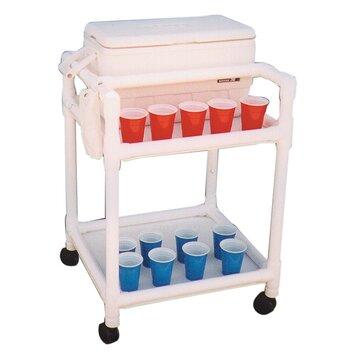 MJM International Hydration Cart with 36 Quart Ice Chest