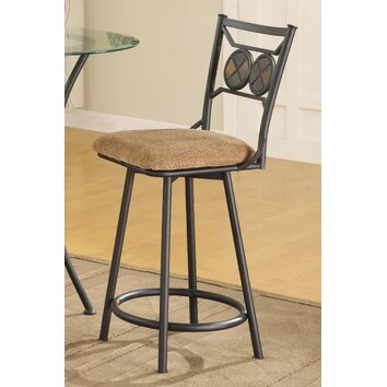 Anthony California Metal Bar Stool With Slate Stone