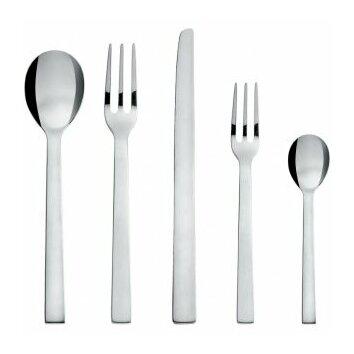Alessi santiago cutlery flatware set in mirror polished - Alessi dinnerware sets ...