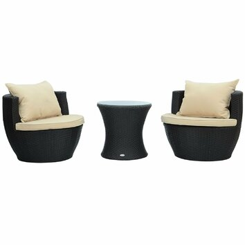 Aosom Outsunny 3 Piece Stacking Seating Group With
