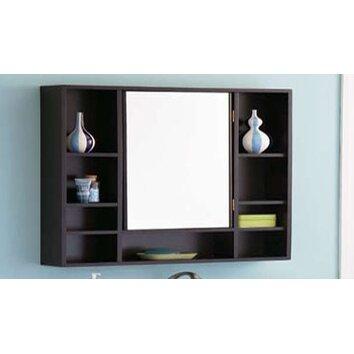 Decolav 30 x 31 5 surface mount medicine cabinet for Wood frame medicine cabinet