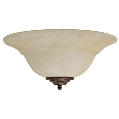 Capital Lighting Two Light Wall Sconce with Rust Scavo Glass Shade