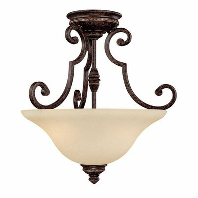 Capital Lighting Barclay 2 Light Semi Flush Mount