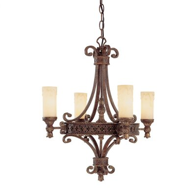 Capital Lighting Squire 4 Light Chandelier
