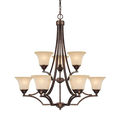 Capital Lighting Towne and Country 9 Light Chandelier