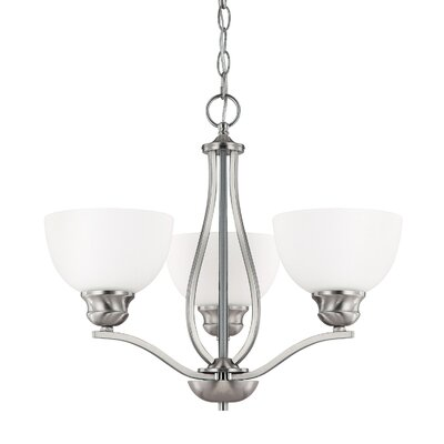 Capital Lighting Stanton 3 Light Chandelier with Soft Glass Shade