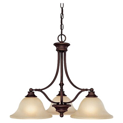 <strong>Capital Lighting</strong> Belmont 3 Light Chandelier