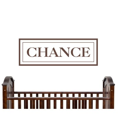 Alphabet Garden Designs Chance Wall Decal