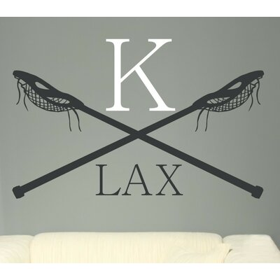 Lacrosse LAX Monogram Vinyl Wall Decal