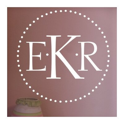 Dot Monogram Wall Decal