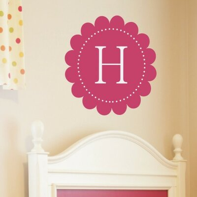 Scalloped Monogram Wall Decal