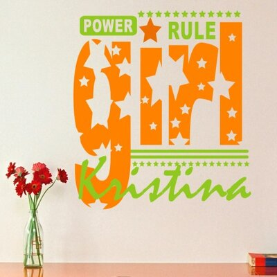 Alphabet Garden Designs Girls Rule Wall Decal