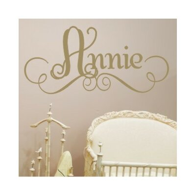 Alphabet Garden Designs Annie's Personalized Wall Decal