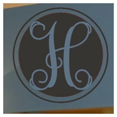 Single Interlock Monogram Wall Decal