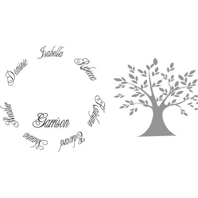 Alphabet Garden Designs Family Tree Wall Decal
