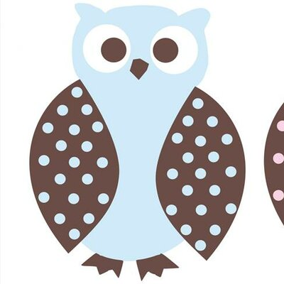 Alphabet Garden Designs Owl Vinyl Wall Decal