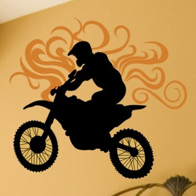 Alphabet Garden Designs Dirt Bike Wall Decal