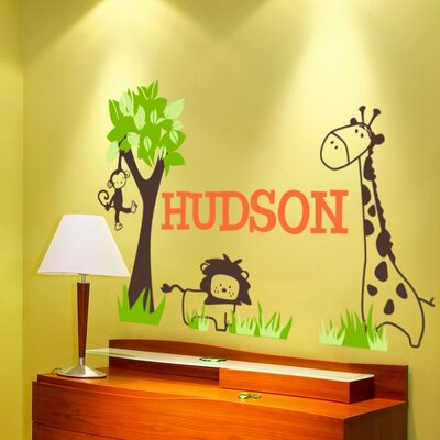 Alphabet Garden Designs It's a Jungle Out There Wall Decal