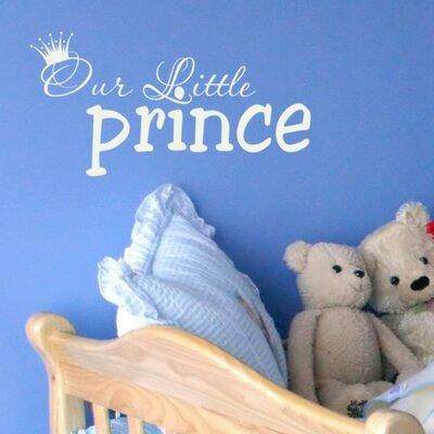 Alphabet Garden Designs Our Little Prince Wall Decal