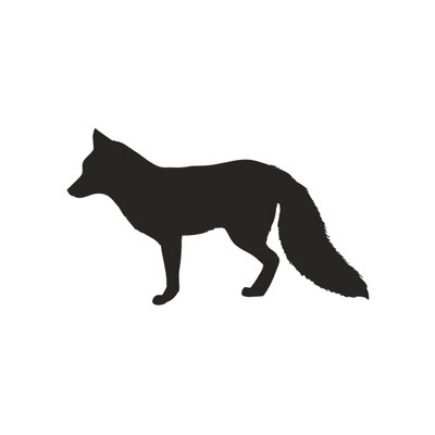 Forest Critter Chalkboard Fox Vinyl Wall Decal