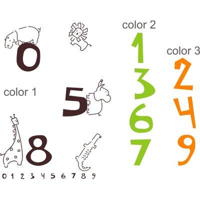 Alphabet garden designs jungle numbers wall decal allmodern for Alphabet garden designs