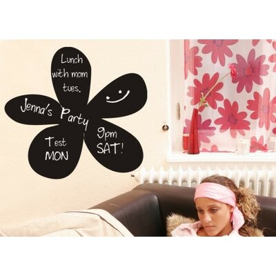 Alphabet Garden Designs Flower Chalkboard Wall Decal