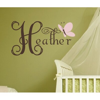 Alphabet Garden Designs Butterfly Dreams Wall Decal