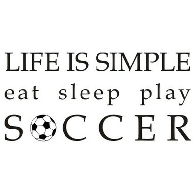 Alphabet Garden Designs Life is Simple-Soccer Wall Decal