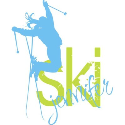 Alphabet Garden Designs Personalized Skier Girl Wall Decal