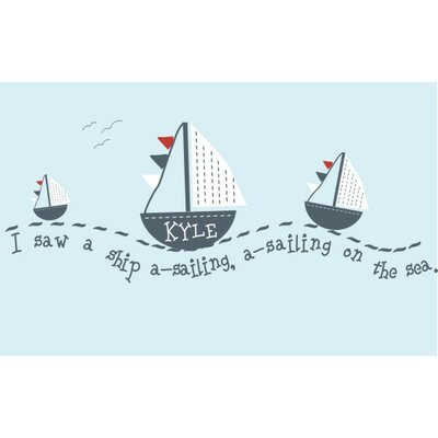 Alphabet Garden Designs Sail Away Wall Decal