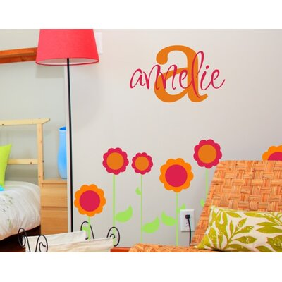 Alphabet Garden Designs Annelie's Monogram Wall Decal