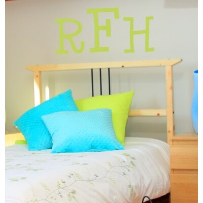Alphabet Garden Designs Cutie Monogram Wall Decal