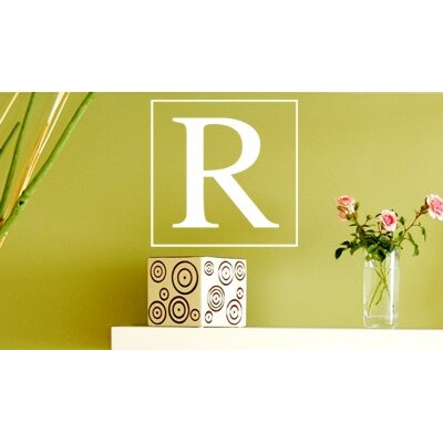 Alphabet Garden Designs Single Square Monogram Wall Decal