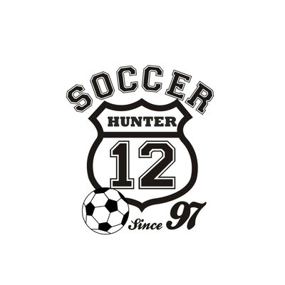 Alphabet Garden Designs Soccer Crest Wall Decal