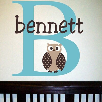 Alphabet Garden Designs Bennett's Owl Wall Decal