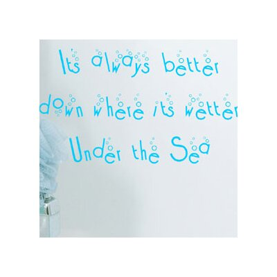 Alphabet Garden Designs Under The Sea Wall Decal
