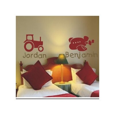 Alphabet Garden Designs Tractor or Plane Wall Decal