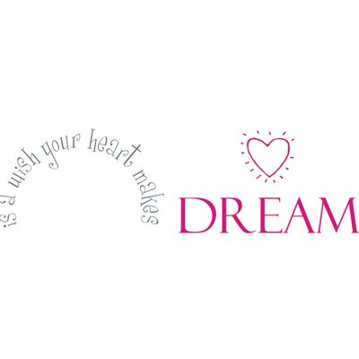 Alphabet Garden Designs A Wish Your Heart Makes Wall Decal
