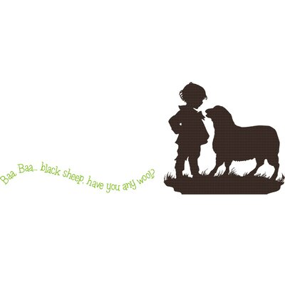Alphabet Garden Designs Baa Baa Black Sheep - Boy Wall Decal