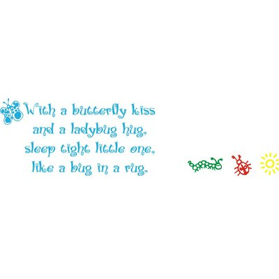Alphabet Garden Designs Butterfly Kiss Wall Decal