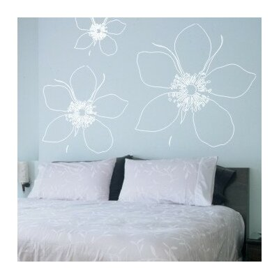 Alphabet Garden Designs Big Flower Wall Decal