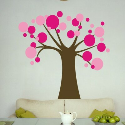 Alphabet Garden Designs Polka Dot Candy Tree Wall Decal