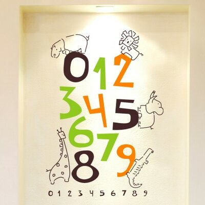 Jungle Numbers Wall Decal