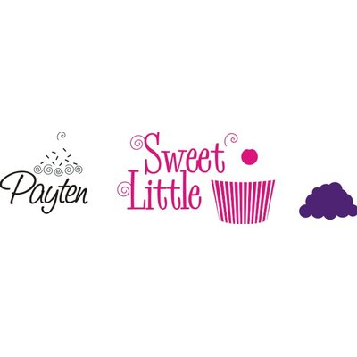 Alphabet Garden Designs Sweet Cupcake Wall Decal