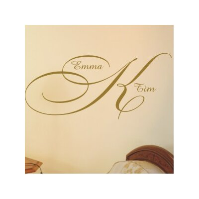 Alphabet Garden Designs Elegant Monogram Wall Decal