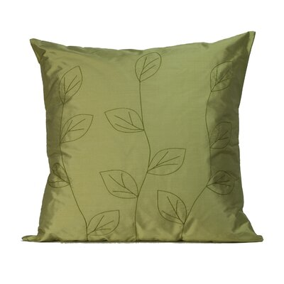 Jiti Leaves Square Silk Decorative Pillow