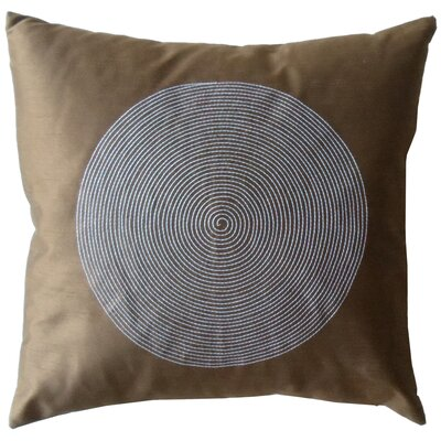 Jiti Spiral Silk Square Decorative Pillow