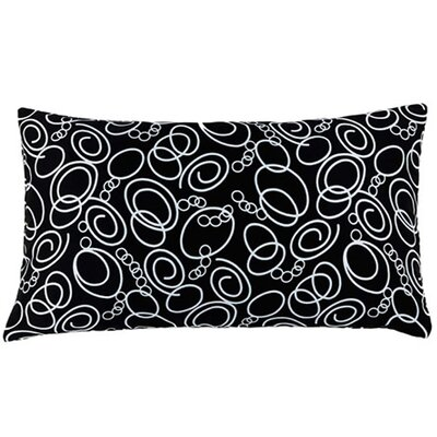 Jiti Faux Silk Decorative Pillow in Black and White