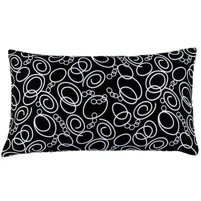 Jiti Faux Silk Decorative Pillow in Black and White