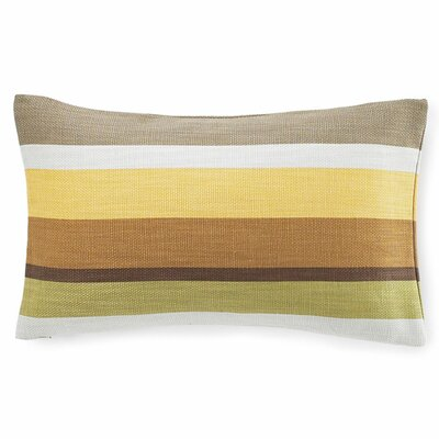 Jiti Pillows Hosta Stripes Cotton Pillow in Celedon